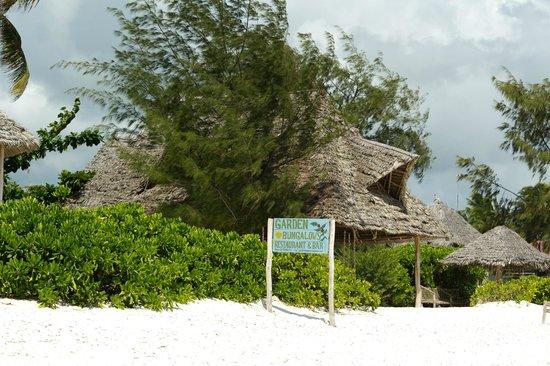 Garden Beach Bungalows Laccueil Prs Du Bar Sur La Plage