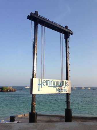 Hemingways Watamu:                                     Fish on!