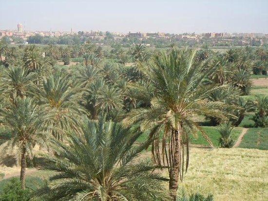 Dar Chamaa: vistas con Ouarzazate al fondo