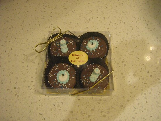 Kilwin's Ice Cream of Las Olas :                   Chocolate covered Oreo cookies!!!!  OMG