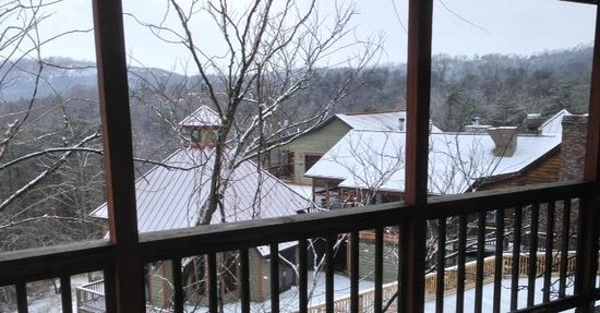 Guesthouse Lost River:                                     View of freshly fallen snow atop back of main house