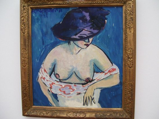 Cologne, Allemagne : Female Nude with a Hat  - Ernst Ludwig Kirchner - 1911 Museum Ludwig - Koln
