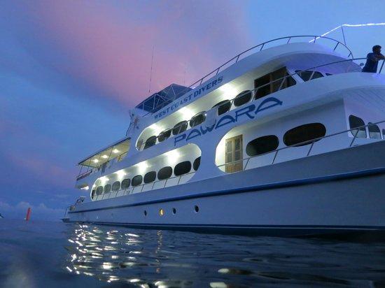 เวสท์โคสท์ ไดเวอร์: MV Pawara at sunset