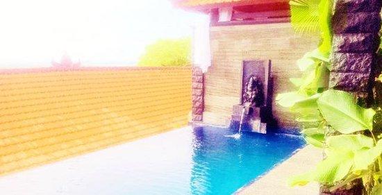 โรงแรมจิมบารันคลิฟไพรเวท & สปา:                                                       our private pool with ganesh