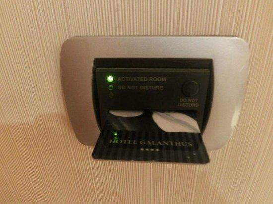Hotel Galanthus & Spa:                   Moderno sistema tarjeta acceso
