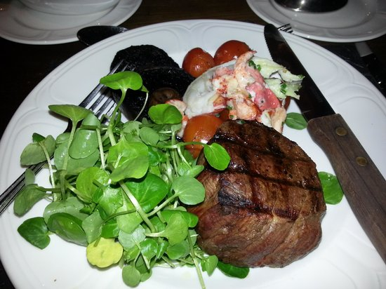 Loch Fyne Hotel & Spa:                   surf and turf