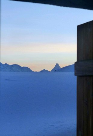 Hotel Belalp:                   View from window of room 2