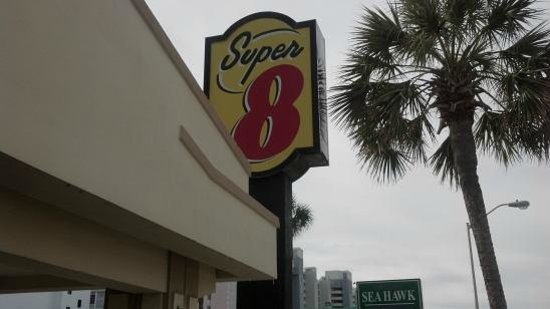 Super 8 Myrtle Beach/Ocean Front Area:                   Super 8 Sign