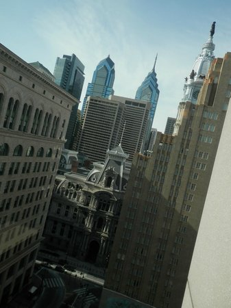 Philadelphia Marriott Downtown:                   view from our hallway