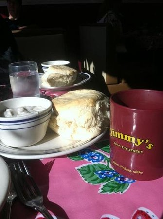 Jimmy's Down the Street:                                     Huge biscuits and rolls