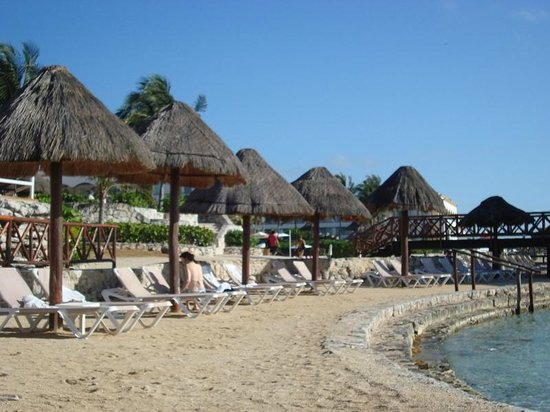 Heaven at the Hard Rock Hotel Riviera Maya:                   the beach