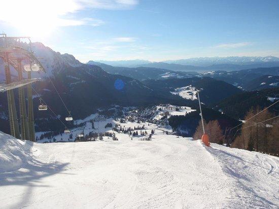Carezza Ski:                   Dalla Paolina (bassa-rossa)