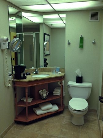 Hampton Inn Bloomington: Functional spacious bathroom