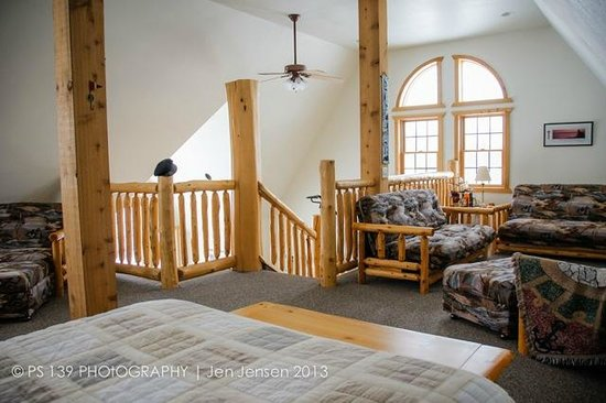Second Wind Country Inn: The upper Loft in Northern Lights Loft.