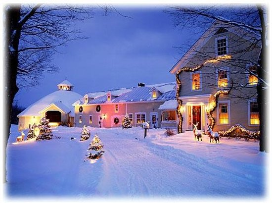 The Round Barn Farm : A winter evening