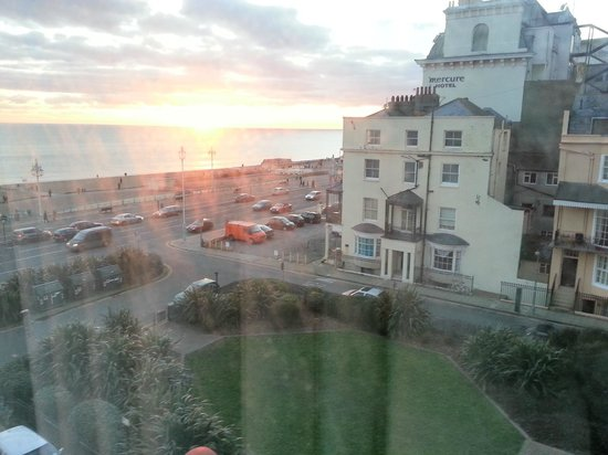 The Brighton Hotel: my side sea veiw at sun set in febuary