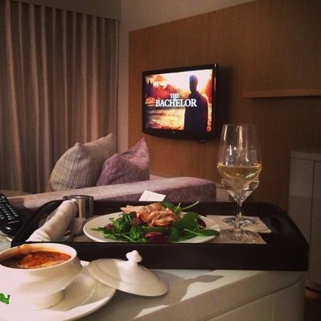 The James Hotel:                   room service
