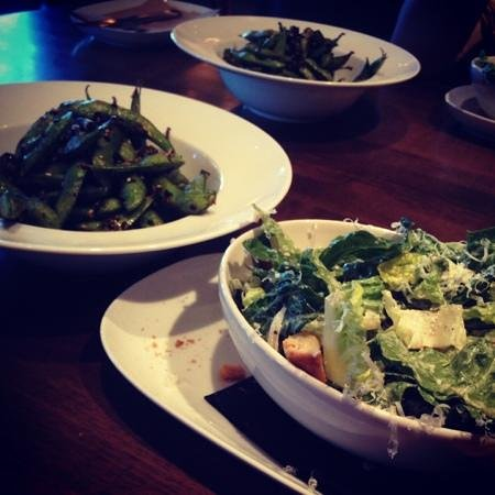 JOEY Crowfoot:                   edamame and starter salad... fantastic