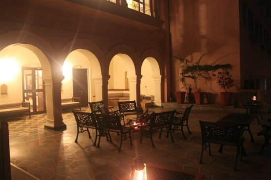 Haveli Hari Ganga:                   Back of hotel at night