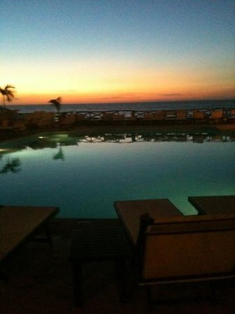 Costa Sur Resort & Spa:                                     sunset at the pool