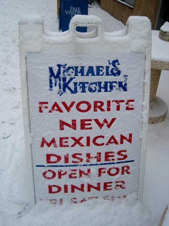 Michaels Kitchen Cafe & Bakery:                   Enjoying the snow!