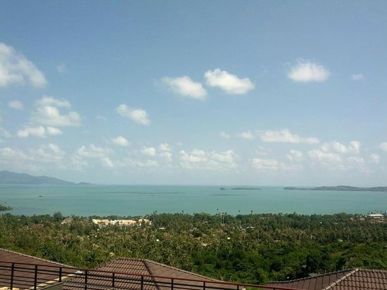 Mantra Samui Resort:                   our view from our balcony