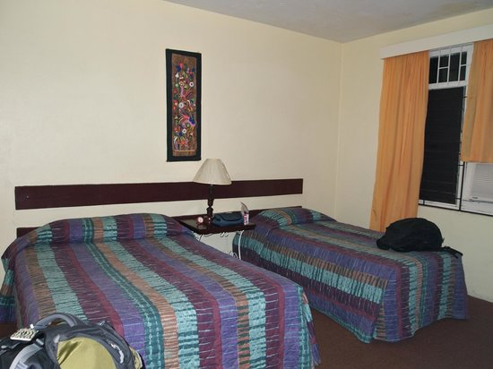 Our room at the Indies Hotel in Kingston, Jamaica.