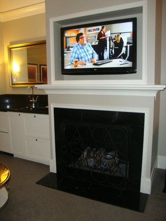 Waldorf Astoria Chicago:                   Gas fireplace and LCD.