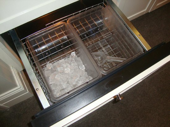 Waldorf Astoria Chicago:                   Ice maker in room. Very convenient!