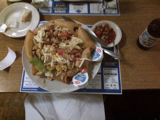 T.J. Spirits: my giant, tasty chicken taco salad