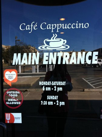 Cafe Cappuccino a great place to eat!  Downtown Waco, Texas