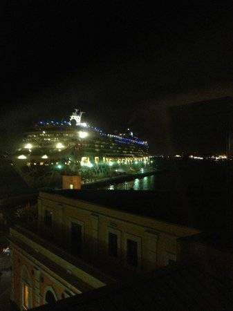 Sheraton Old San Juan Hotel:                   View of Cruise Ship on Arrival