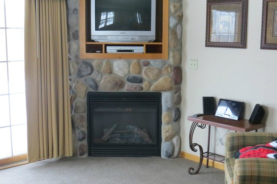 Breezy Point Resort:                                     View of the fireplace in the living room