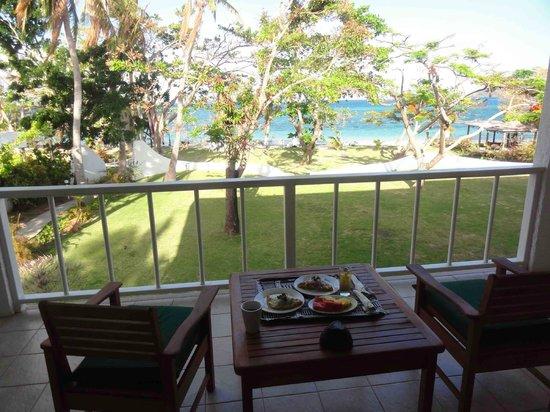 Lomani Island Resort:                                     Deluxe suite room balcony