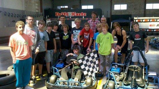 DriftKartz: Group Of Teens Full On Drifting.