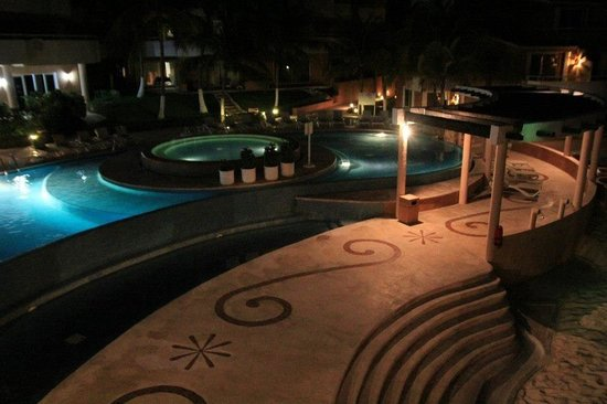 Sunset Fishermen Spa & Resort:                   A night shot I took one evening at Sunset Fisherman's overlooking their pool a