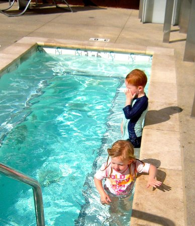 Grandkids In Shore Hotel Pool