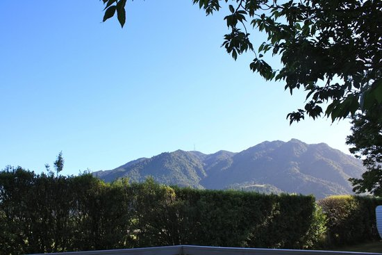 Te Aroha Holiday Park and Backpackers: Mt Te Aroha from our deck
