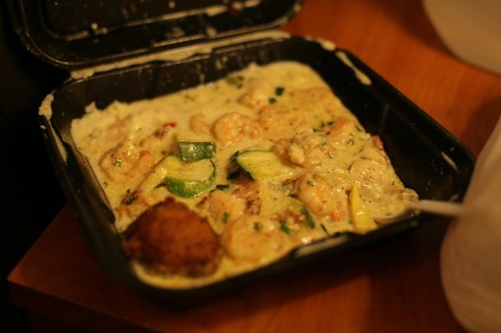 Jonah's Fish & Grits:                   Creamy shrimp and grits