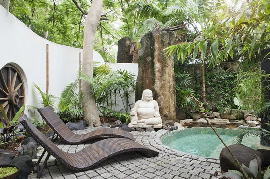 Buddha Gardens Day Spa:                   Delightful gardens and plunge pool