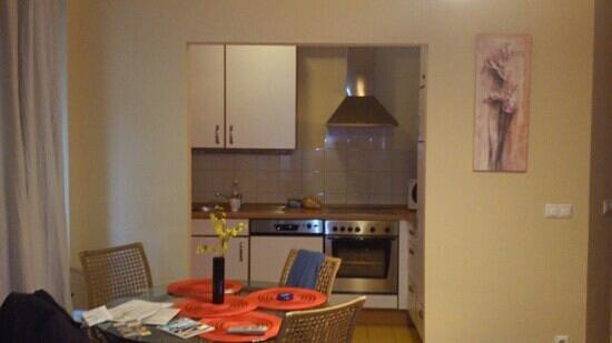 Leda Apartments:                   кухня