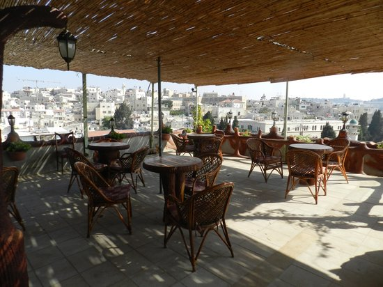 Hashimi Hotel:                   View from the Terrace