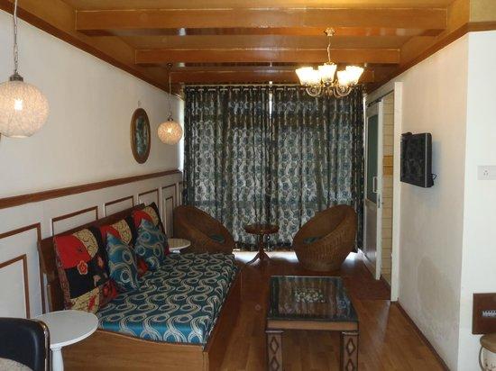 Sparsh Resort:                   living room of our cottage