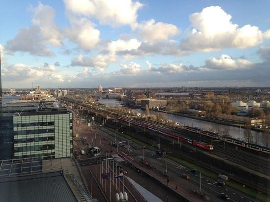 Movenpick Hotel Amsterdam City Centre: view from one of hotel's windows