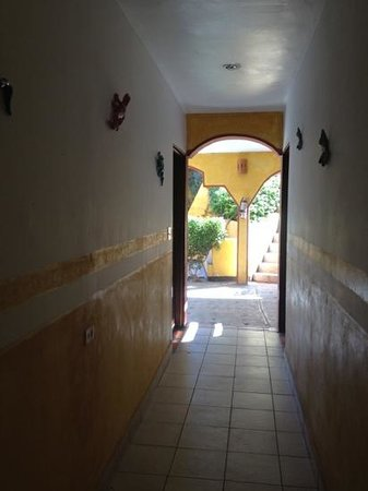Hacienda Los Algodones:                                     Hallway to rooms