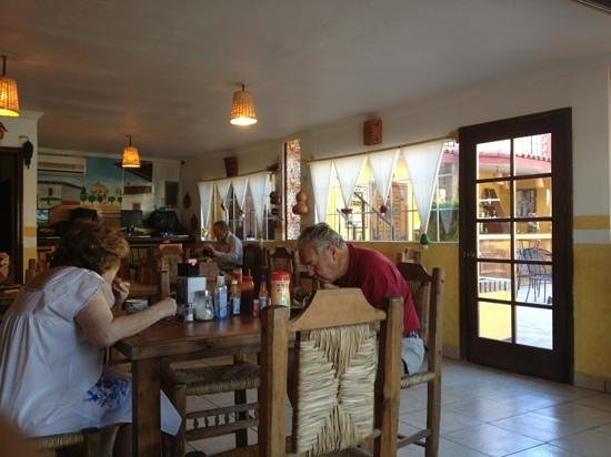 Hacienda Los Algodones:                                     Breakfast in Cafe