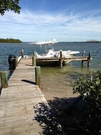 Cabbage Key Inn :                   View of the Boat Dock