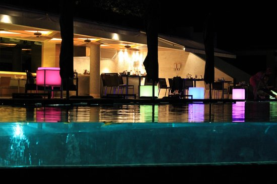 Conrad Koh Samui:                   pool area at night                 