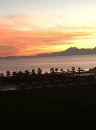 Voyage Belek Golf & Spa:                   sunset