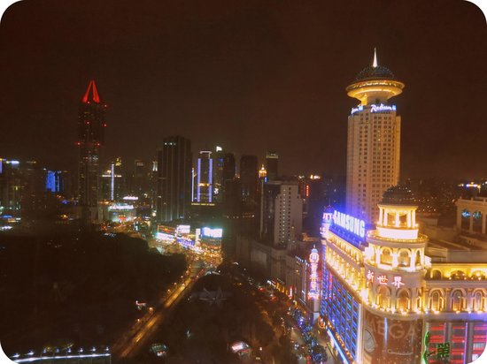 Le Royal Meridien Shanghai:                   View from Le Meridien towards Peoples Park